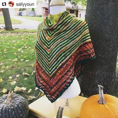 Incredible! . . #Repost @sallyyoun with @repostapp  A second picture of my new Quill Shawl posed on a mannequin in my front yard with the kids' pumpkins. You know like people do. . . . #knitting #knitstagram #knittersofinstagram #countessablaze #curioushandmade #shawlsociety #theshawlsociety #quillshawl #wool #yarn #yarnlife #yarnaddict #yarnlove #finishedobject #wintersquash