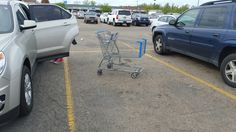 Carts always stand their ground, provided the parking lot has no slope.