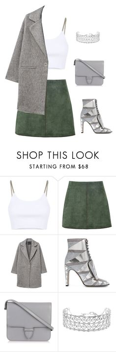 """""""IMPERFECTIONS #27"""" by nefelibata080 ❤ liked on Polyvore featuring Alexander Wang, George J. Love, MANGO, Sergio Rossi, Alaïa, Co.Ro, Silver, grey and imperfect"""