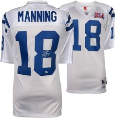 e96af26c Peyton Manning Indianapolis Colts Autographed Mitchell & Ness 2006 Super  Bowl Patch White Authentic Jersey -