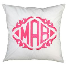 Luxury Monograms, beautiful pillows:)