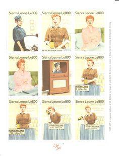 I Love Lucy Stamp Set Vitameatavegamin