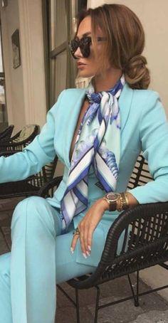 Suit Fashion, Work Fashion, Fashion Outfits, Womens Fashion, Fashion Styles, Looks Chic, Looks Style, Classy Outfits, Stylish Outfits