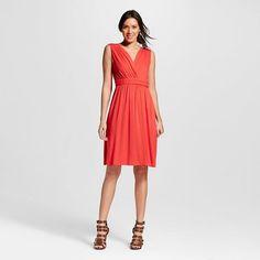 Women's Knotted Waist Faux Wrap Knit Dress - Spenser Jeremy