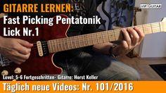 ✪ GITARRE LERNEN: Fast Picking Pentatonik Rock Lick Nr.1