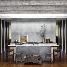 Kitchen grey wash Design Ideas, Pictures, Remodel and Decor
