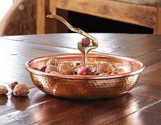 Italian Copper Nutcracker Bowl