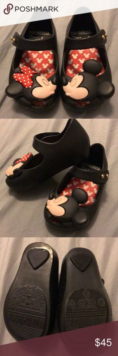 Mini Melissa Ultra+Disney BB Used twice by a walking 16 month old inside the house, in amazing condition! Will come in original packing! My toddler didn't seem to like them as much as I'd hope so hoping it'll make someone else's feet happy! Mini Melissa Shoes