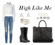 """High Like Me"" by anaelle2 ❤ liked on Polyvore featuring Givenchy, Frame Denim, MARIOS, Yves Saint Laurent, Boohoo, Jennifer Meyer Jewelry, Forever 21, ASOS, StreetStyle and YSL"