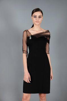 Spazio Emina Tül Krep Abiye Elbise: Lidyana.com