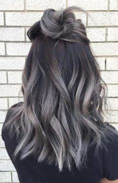 36 Gray Silver Ombre Hair Color Ideas for Attention-Grabbing Gals, Gray Silver Ombre Hair Color Ash ombre Ombre is a fashionable dyeing method that can be used on hair of different colors and lengths. Ash Gray Hair Color, Ombre Hair Color, Hair Color Balayage, Hair Colors, Ash Balayage, Ash Ombre Hair, Gray Color, Ash Blonde Hair, Blonde Ombre