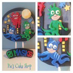 PJ Masks BIRTHDAY fondant cake topper Owlette by PiesCakeShop