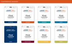 Best Conference Badges Images On Pinterest Conference Badges - Conference badge design template