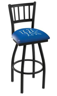 University of Kentucky Bar Stool w/Back- this will work if u have a material cover for ur seats. Make his special. Material and staple gun.