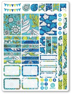 One 6 x 8 sheet of stickers cut and ready for use in your Erin Condren life…