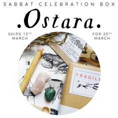 OSTARA Sabbat Witch Box Kit Guide Celebration supplies Vegan subscription uk witchy spring equinox gift mystery vegan ships 12th March Celebration Box, Halloween Celebration, Sabbats, Halloween Signs, Winter Solstice, Subscription Boxes, Samhain, Yule, Vintage Items