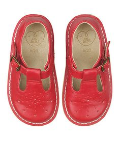 Little Bird by Jools Red Buckle Shoes - shoes & boots - Mothercare