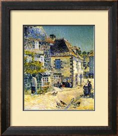Pont Aven, Brittany, 1897 Giclee Print by Childe Hassam at Art.com