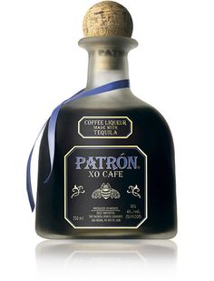 Patron XO Cafe. Blend of ultra-premium Patron Silver tequila and natural essence of fine coffee.