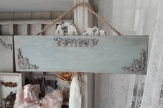 Nameplate for decoration in and around house / Company Vintage Tile, Shabby Vintage, Burlap Lace Table Runner, Rustic Paint Colors, Orchard Design, Iron Orchid Designs, Craft Markets, Clay Design, Paper Clay