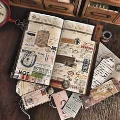 Smash book discovered by Megan Odom on We Heart It Bullet Journal, Daily Journal, Journal Diary, Journal Layout, Journal Pages, Diary Book, Travelers Notebook, Journal Inspiration, Motivation Inspiration