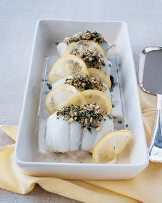 Petrale Sole rolls with spinach In a French-inspired dish, fish fillets are wrapped around a spinach filling, which helps keep them moist during baking.