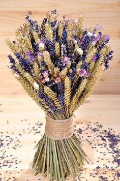♥ , from Iryna Lavender Decor, Lavender Crafts, Lavender Flowers, Bridal Flowers, Fall Flowers, Dried Flower Arrangements, Flower Centerpieces, Flower Decorations, Wedding Centerpieces
