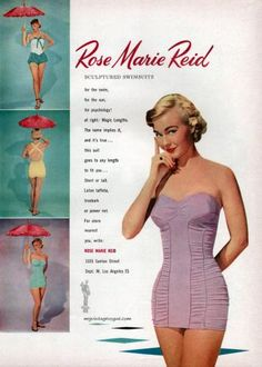 5557486e36ba3 Fashion Extras » Swimwear » Rose Marie Reid 1951