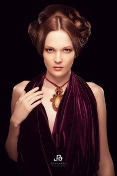 Soutache jewelry by Yulia Logvinova.  #necklace #woman #fashion #gift #soutache #beads  #designer jewelery  #jewelery  #jewelry  #jullery  #yulia #logvinova