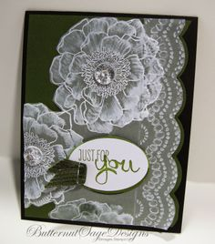 just for you card by Donna at Butternut Sage Designs.... using VELLUM and new stamp BLENDED BLOOM... love it!