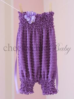 Ruffle Romper LILAC - by Cheeky Chic Baby. $44.00, via Etsy.