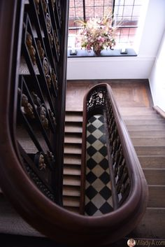 Beautiful stairs in Hotel De Tuilerieën in Bruges, Venice of the North. Story on Milady-A.com