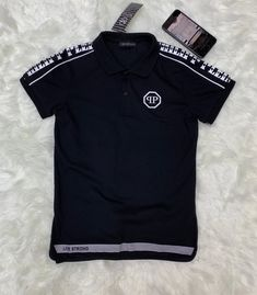 Polo Shirt Outfits, Polo T Shirts, Track Pants Mens, Baby Boy T Shirt, Versace T Shirt, T Shirt Painting, Tommy Hilfiger, Fashion Catalogue, Philip Plein