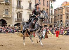 Espectacle de cavalls al Mercat Medieval de Vic (desembre)