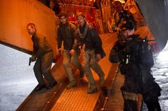 Brad Pitt, Grégory Fitoussi, John Gordon Sinclair, and Elyes Gabel in World War Z Brad Pitt, Gregory Fitoussi, Z Clip, Z Movie, Zombie Hunter, Sci Fi Horror, Beautiful Disaster, Vampire Academy, Gabel