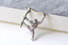You'll receive 10 pcs of antique silver cute gorilla charms.  Very nice looking and high quality.  Size: 32x39mm Hole: 2.5mm  USPS First Class Mail to United States!  All o... #accessories #antique_silver_charm #baboon_charms #charm #gorilla_cubs #gorilla_pendant #jewelry_findings #king_kong #naughty_gorilla #silver_gorilla #silver_monkey_charms #supplies #tibet_silver #verycharms #wild_animal_charms