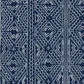 African mud cloth mudcloth tribal white on blue by jenlats