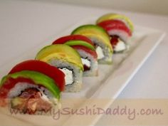 SUSHI! Crazy Tuna Roll--spicy tuna, cucumber and cream cheese inside, topped w/ yellowfin tuna and avocado... yum!
