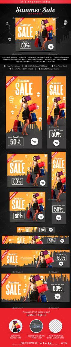 Summer Sale Banners Template #design Download: http://graphicriver.net/item/summer-sale-banners/11394335?ref=ksioks