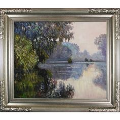 Found it at Wayfair - Morning on the Seine near Giverny by Claude Monet Framed…