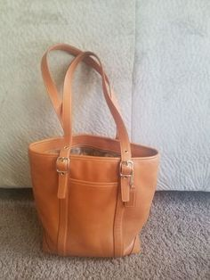 Coach Leather Gallery camel Tote Designer Bag