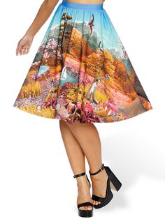 Hide and Seek Pocket Midi Skirt - 48HR / LIMITED (AU $110AUD / US $75USD), by Black Milk Clothing