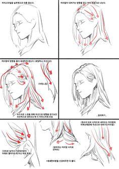 #dessiner #cheveux dessin des mouvements de la chevelure