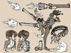 Peg Leg Bessie Concept Sketch by AfuChan on DeviantArt