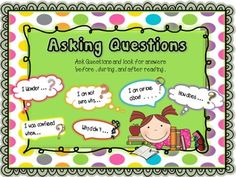 Reading Comprehension Strategies with some guided questions in each poster. Freebie