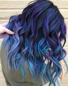 From pulp riot hair color ( Cute Hair Colors, Pretty Hair Color, Beautiful Hair Color, Hair Dye Colors, Bright Hair Colors, Purple Hair, Ombre Hair, Purple Ombre, Ombre Colour