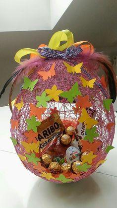 Velikonocni vajicko z bavlnky na sladkosti, 35 cm vysoke