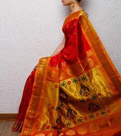 Pink Paithani Silk Saree
