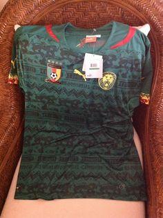 Cameroon puma home camerun soccer power green jersey shirt size L mens  132080700