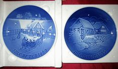Bing & Grondahl Collectible Porcelain Christmas Plates 1969 Lot of 2 World Series Of Poker, Wall Decor Pictures, Christmas Plates, Christmas Photo Cards, Decorative Plates, Vintage Items, Old Things, Porcelain, Pottery